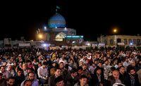 آئین شب وداع با ماه رمضان +عکس
