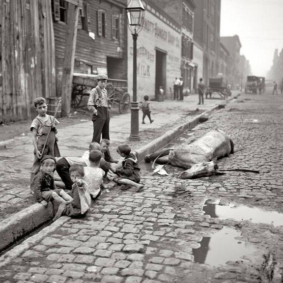 ۱۱۹سال قبل، خیابانی در نیویورک +عکس