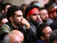 مراسم عزاداری شب عاشورای حسینی (ع) در حسینیه امام خمینی +تصاویر