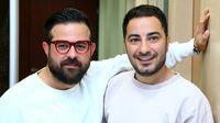 هومن سیدی در کنار نوید محمدزاده و همسرش + عکس