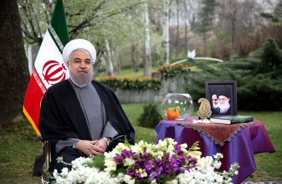 رییس جمهوری برای نخستین بار به صورت زنده پیام نوروزی میدهد