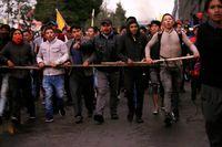 تظاهرات مردم اکوادور علیه سیاستهای دولت +فیلم