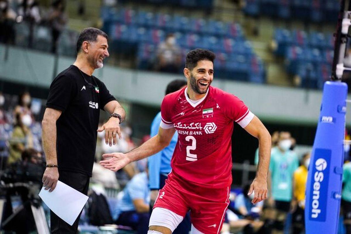پیروزی تیم ملی والیبال ایران مقابل پاکستان
