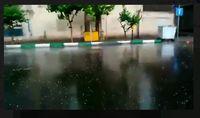 تگرگ سهمگین در بندرعباس +فیلم