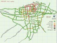 وضعیت ترافیک بزرگراههای تهران +نقشه