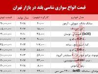 قیمت خودرو شاسی بلند در بازار تهران +جدول
