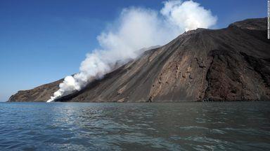 Volcanic eruptions at Stromboli_ Italy