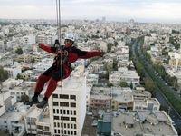 زن عنکبوتی در خیابانهای مشهد