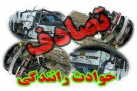 تصادف کامیون و تانکر گاز در تهران یک کشته داشت