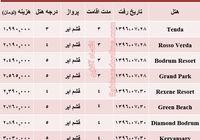 هزینه سفر به بدروم در مهر ماه۹۶ +جدول