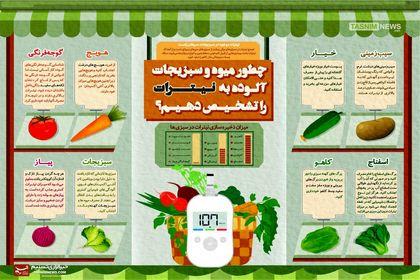 نیترات موجود در سبزیجات سرطان زاست +اینفوگرافیک