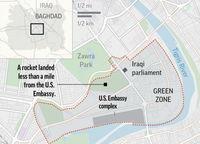 بالگردهای آمریکایی کارمندان سفارتخانه بغداد را تخلیه کردند