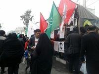فرزندان شهید سلیمانی در راهپیمایی 22بهمن +فیلم