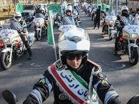 رژه موتورسواران در آستانه سالگرد پیروزی انقلاب +عکس