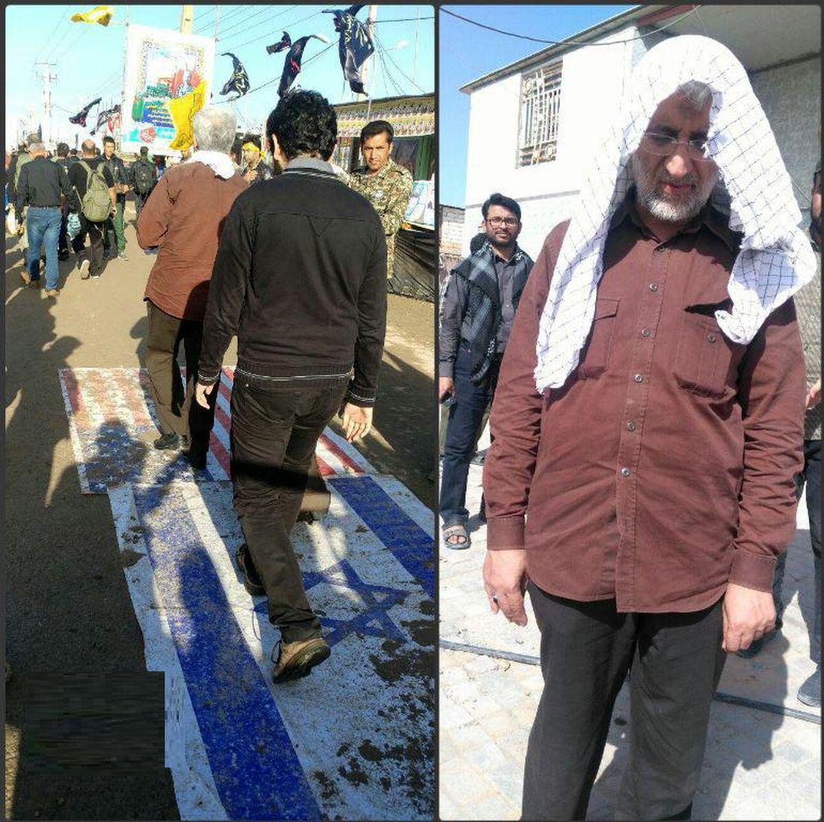 سعید جلیلی در راهپیمایی اربعین +عکس