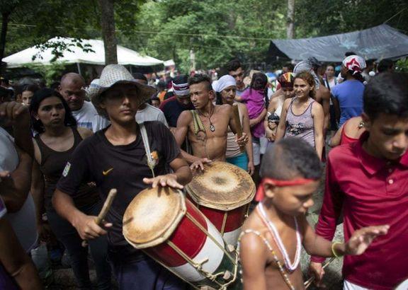 پیروان یک آیین عجیب در ونزوئلا +عکس