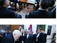 ظریف دفتر یادبود اتاق بازرگانی کرواسی را امضا کرد +عکس