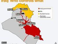 آخرین نقشه از تحولات میدانی در عراق