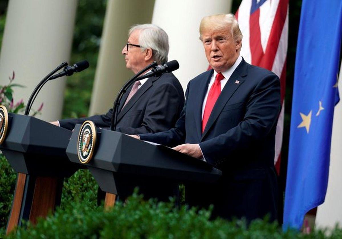 آغاز فوری مذاکرات تجاری آمریکا با اتحادیه اروپا