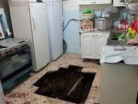 کف آشپزخانه زن میانسال را بلعید +عکس