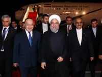 لحظه ورود روحانی به دوشنبه پایتخت تاجیکستان +فیلم