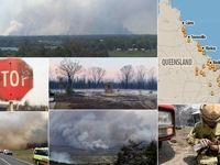 دیوار آتش ۲۰۰۰کیلومتری در «کوئینزلند» استرالیا