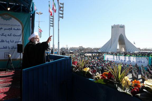 روحانی از حضور پرشور مردم در راهپیمایی ۲۲بهمن قدردانی کرد