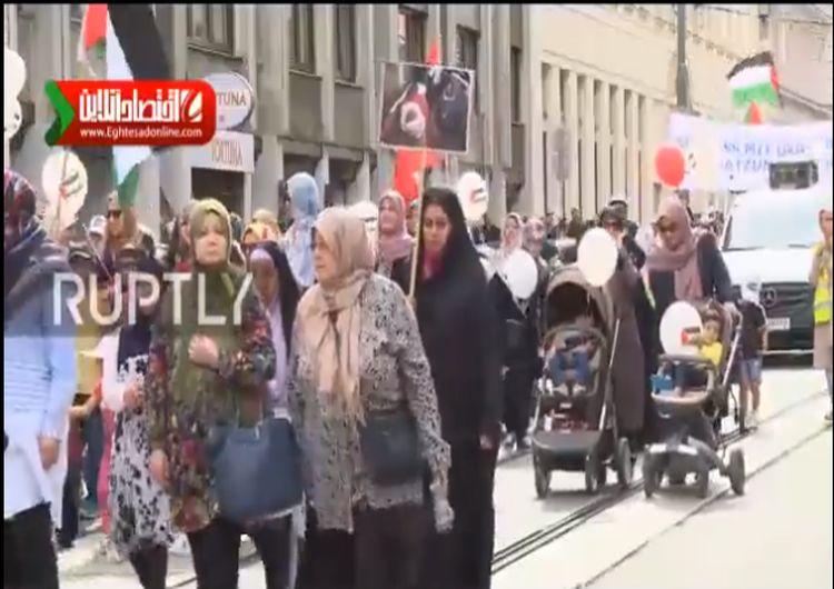 راهپیمایی روز قدس در اتریش +فیلم