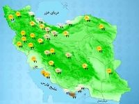 بارشهای پراکنده در برخی از استانها