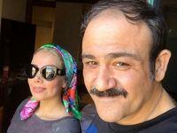 عکس جدید از مهران غفوریان و همسرش