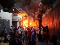 آتشسوزی در یک مجتمع مسکونی