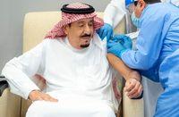 پادشاه عربستان اولین دوز واکسن کرونا را زد +عکس