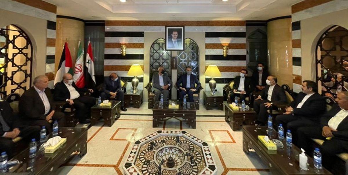 دیدار امیرعبداللهیان با رهبران گروه های فلسطینی