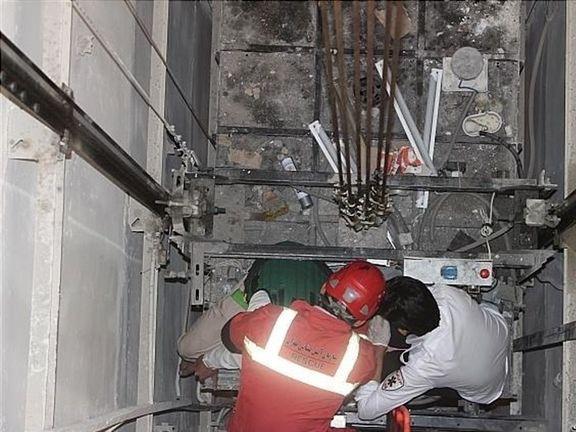 سقوط آسانسور در پاساژ علا الدین