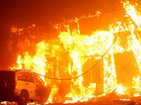 مخربترین آتشسوزی در تاریخ کالیفرنیا +عکس