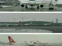 برف امروز در فرودگاه امام خمینى(ره) +عکس