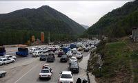 ترافیک در محور هراز نیمه سنگین است