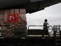 تخلیه هواپیمای حامل کمکهای ترکیه به آمریکا
