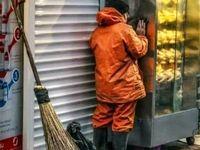 پناه بردن پاکبان به فر برقی از سرمای زمستان +عکس