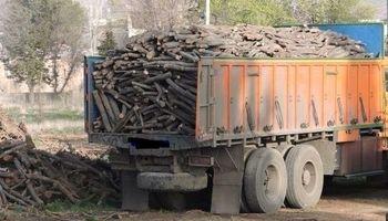 محموله ۶تُنی چوب قاچاق در سقز کشف شد