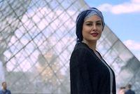 تیپ خانم بازیگر در موزه لوور +عکس