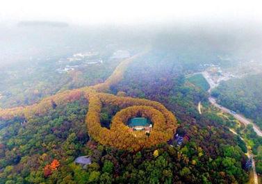 کاخی شبیه گردنبد زمرد در چین