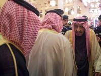 اندوه ملک سلمان در تشییع جنازه برادرش +تصاویر