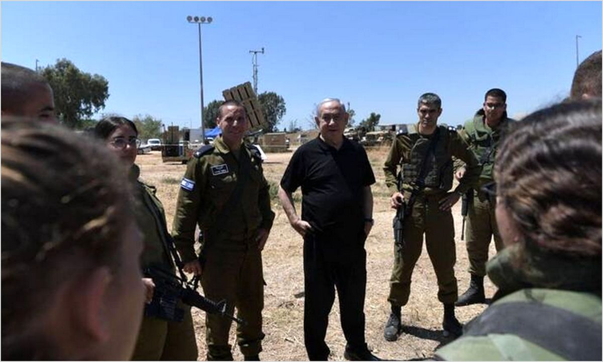 دلخوشی نتانیاهو به گنبد آهنین + عکس