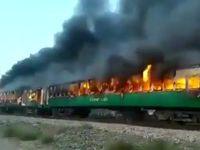 آتشسوزی مرگبار در قطار مسافربری +فیلم
