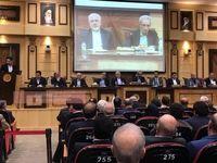 حضور ظریف در نشست هیات نمایندگان اتاق بازرگانی ایران