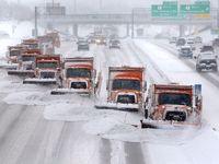 برف روبی یکی از بزرگراههای شهر مدیسون آمریکا