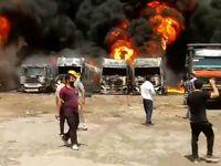 تانکرهای سوخت آتش گرفته در شهرک دولتآباد کرمانشاه ویژه ترانزیت و صادرات بودهاند/ آسیبی به تاسیسات نفتی شرکت پخش در منطقه وارد نشده است