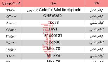 قیمت انواع کیف و کوله مدرسه دربازار؟ +جدول