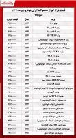 جدیدترین قیمت خودروهای ایران خودرو +جدول
